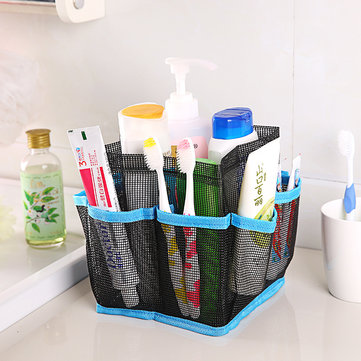 Bathroom Cosmetic Mesh Bag Storage Pouch Handle Home Travel Organizer Net Gauze Bag