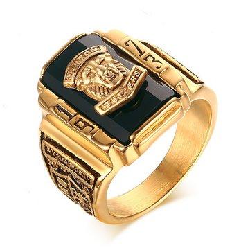 Tiger Head Ring para homens