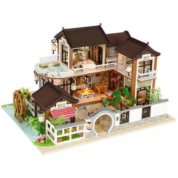 DIY Ancient Town Luxury Villa Dollhouse