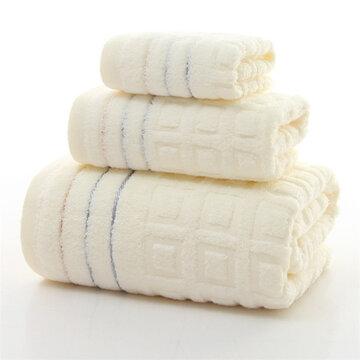 Toalhas para rosto de banho de algodão puro com 3pcs de algodão Home Spa Spa Salon Soft Jacquard Weave Towel Set