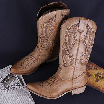 LOSTISY Cowgirl Totem Western Boots