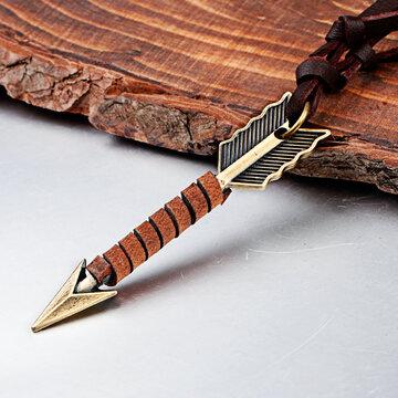 Vintage Arrow Leather Necklaces