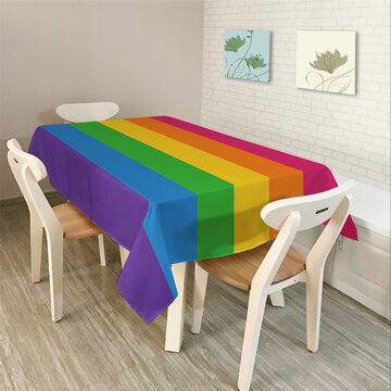 Colorful Triangle Geometry Pattern Table Cover