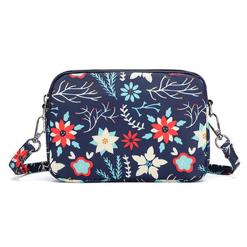 Women Nylon Waterproof Crossbody Bag Print Shoulder Bag