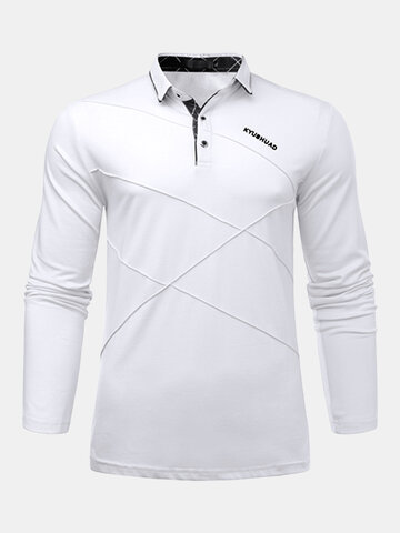Mens Solid Cotton Golf Shirt