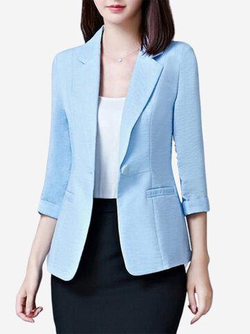 Normale Farbe Sieben Punkte Ärmel Büro Lady Suit
