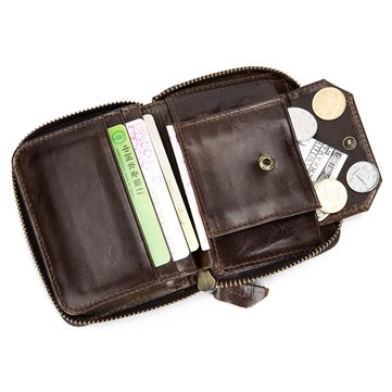 03bca48411 BULLCAPTAIN Genuine Leather 10 Card Slots Wallet