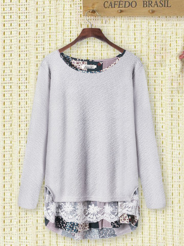 Lace Knit Sweater for Women