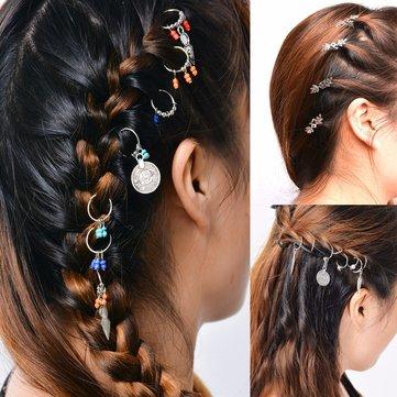 Trendy Blätter Münze Haarspange