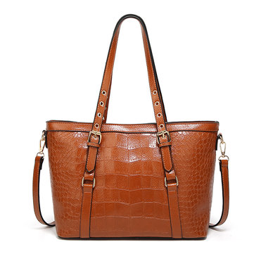 Women Crocodile Pattern Tote Handbags