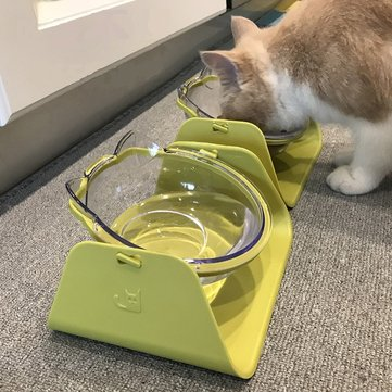 4 Colors 15 Degree Adjustable Pet Feeder Bowl
