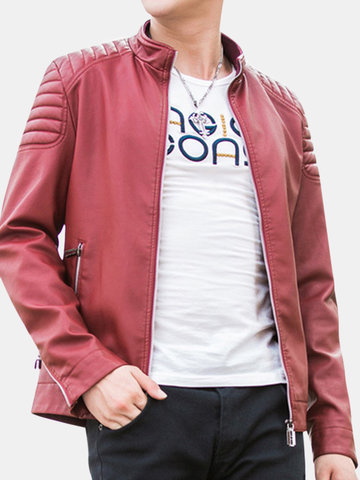 PU Leather Casual Cool Jacket