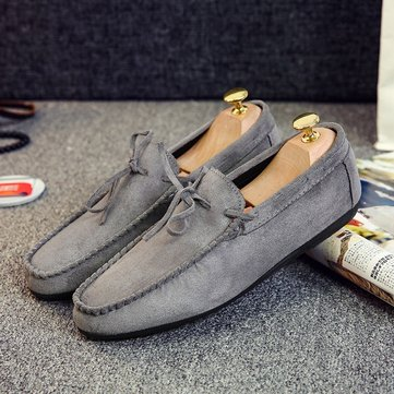 Men Moccasin Toe Slip On Casual Loafers