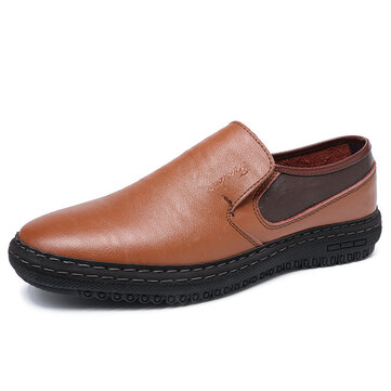 Men Color Blocking Portable Slip On Casual Shoes
