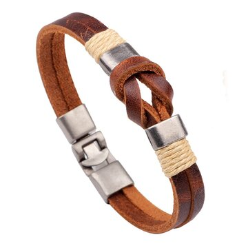Men's Leather Cuff Bracelet
