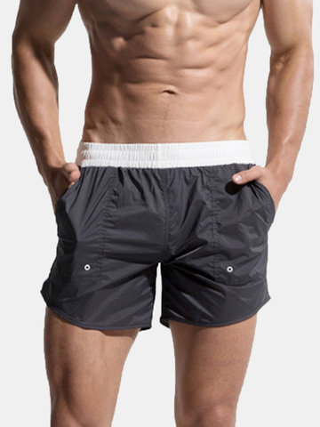 Thin Solid Color Beach Short