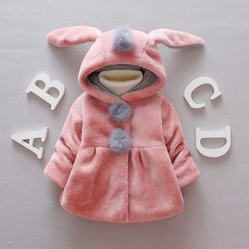 Long-sleeved Hooded Jacket Ears Girl Autumn And Winter