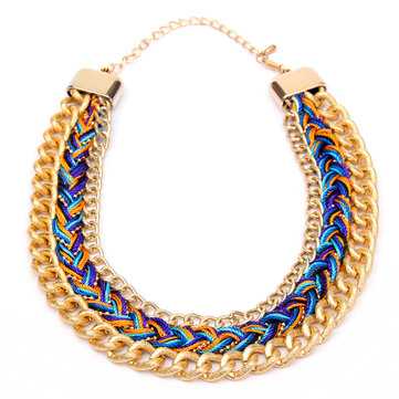 Collier d'énigme en alliage multicolore