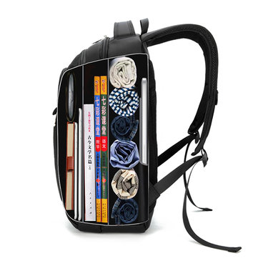 15.6'' Laptop Compartment Travel Backpack Big Capacity Waterproof Oxford Bag For Men