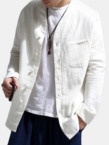 Style décontracté style national chemise décontractée