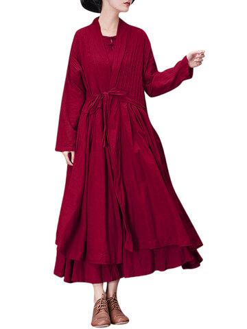 Gracila Vestido Casual Solto com Cinta