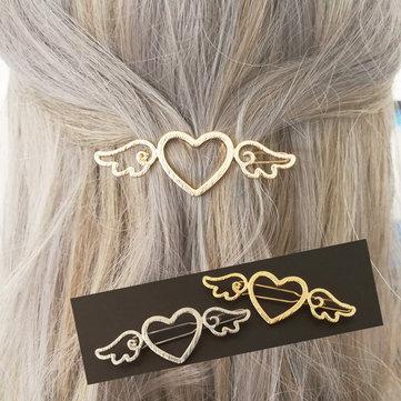 Sweet Heart Wings Hair Clips