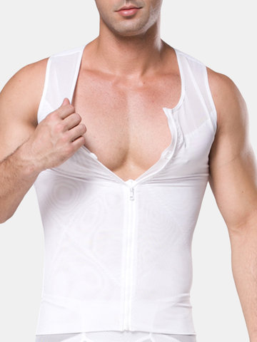 Men Sport Underwear Waist Trainer Corset Shirt