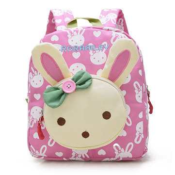 eb6886e26428 Kids Children Canvas Rabbit Bear Cartoon Lovely Backpack Small School Bags
