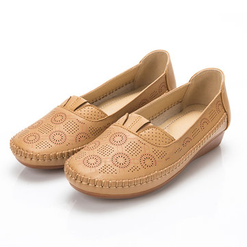 Breathable Hollow Slip On Flats Shoes