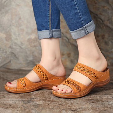 Stitching Comfy Casual Wedges Sandals