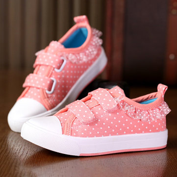 Girls Wave Point Decor Lovely Casual Shoes