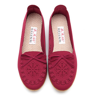 Breathable Mesh Cloth Hollow out Flats