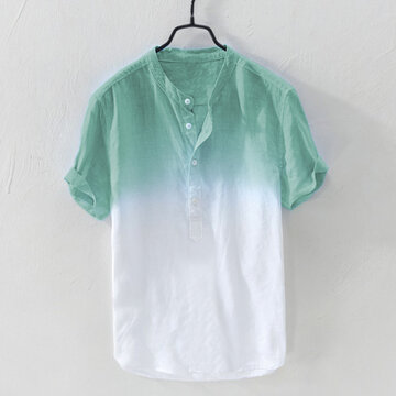 Gradient Color Summer Short Sleeve T-shirt