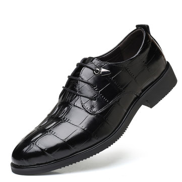 Men Leather Business Casual Formal Shoes