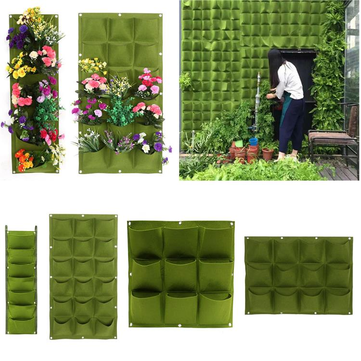 Pockets Planting Bags Garden Vertical Hanging Wall Seedling