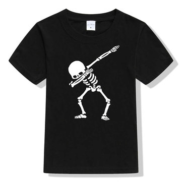 Skull Print Kids T-Shirt For 4-13Y