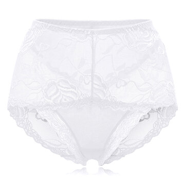 2221c6f27a784 Sexy Soft Transparent Lace Embroidery Hollow Mid Waisted Thin Panties