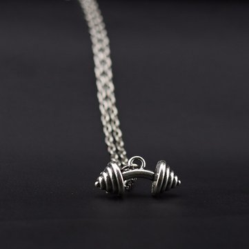 Dumbbells Charm Hombres Collares