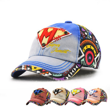 Kids Boys Girls Cotton Baseball Hat Letter Embroidery Outdoor Sports  Sunshade Cap ea44c5ca4e91