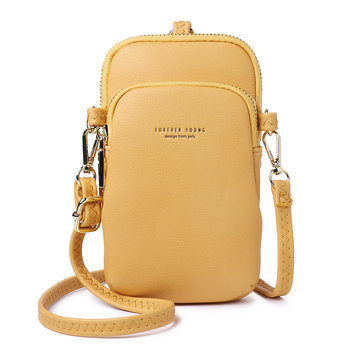 Women Casual Crossbody Bag Solid Phone Bag