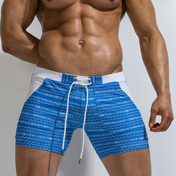 Printing Skinny Nylon Swim Trunks