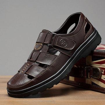Chaussures homme ajourées en cuir
