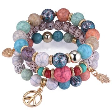Ethnic Multi-Layer Beaded Bracelet