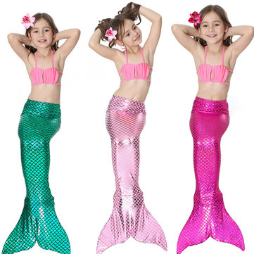 3Pcs Mermaid Swimsuit For Girls 4Y-13Y