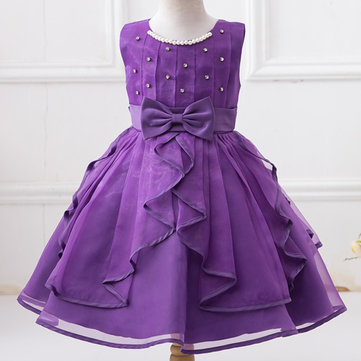Pearls Girl Princess Dress For 4Y-15Y