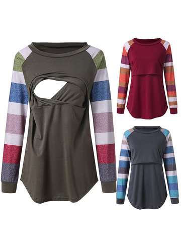 Front Open Maternity Nursing Tops