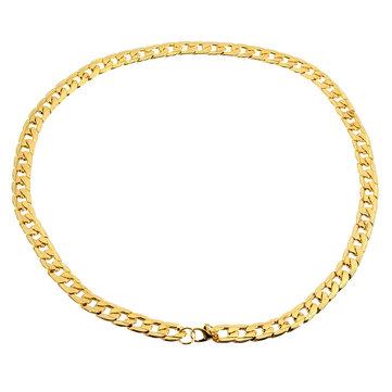 Colar dourada em aço inoxidável polido