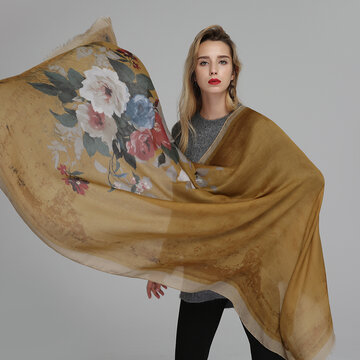 180CM Ink Printing Ethnic Long Scarves Shawls