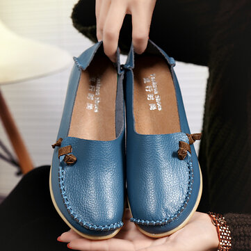 Multi-Way Wearing Pure Color Flat Loafers