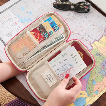 Women Multi-function Travel Passport Holder